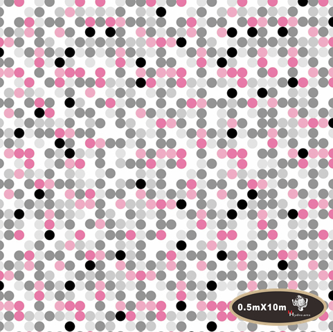 NO.HFJ039,Width 0.5M,hydro dipping pink dots hydrographics film Water Transfer Printing Film Hydrographic Film(China (Mainland))