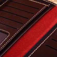 2015 Wholesale solid magic men wallets soft long male clutch bag thin brand leather portfolio male