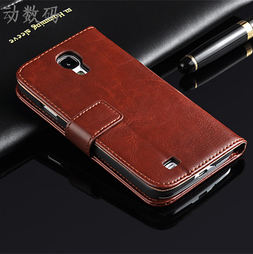 S4 case Brand New Original cell Phone case Flip Wallet Leather Case Cover For Samsung Galaxy S4 I950 I9500 Free Shipping(China (Mainland))