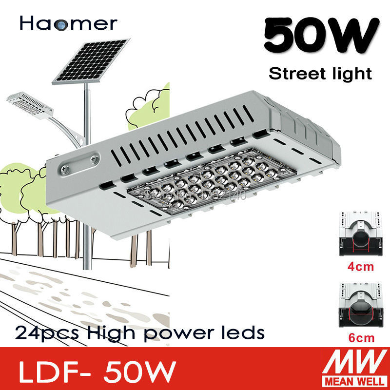 50w led streetlight. can be used to solar powered system. 4cm or 6cm lamp pole for garden and by-path road lighting.Haomer(China (Mainland))