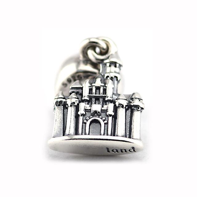 925 - серебристо-ювелирные бусины спящая красавица замок бусины подходящий европейский оригинальный браслет серебряный 925 мода DIY