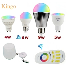 NEW Milight Led Bulb 4W 5W 6W 9W GU10 E27 E14 RGBW RGBWW Lamps Wireless Wifi Controller Box 4-Zone 2.4G RF Remote Controller(China (Mainland))