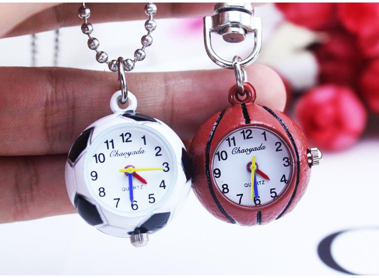 Football basketball baseball golf ball Small Quartz Pocket Watch Necklace Chain Pendant Boys Men Watch GIft Regarder A324(China (Mainland))