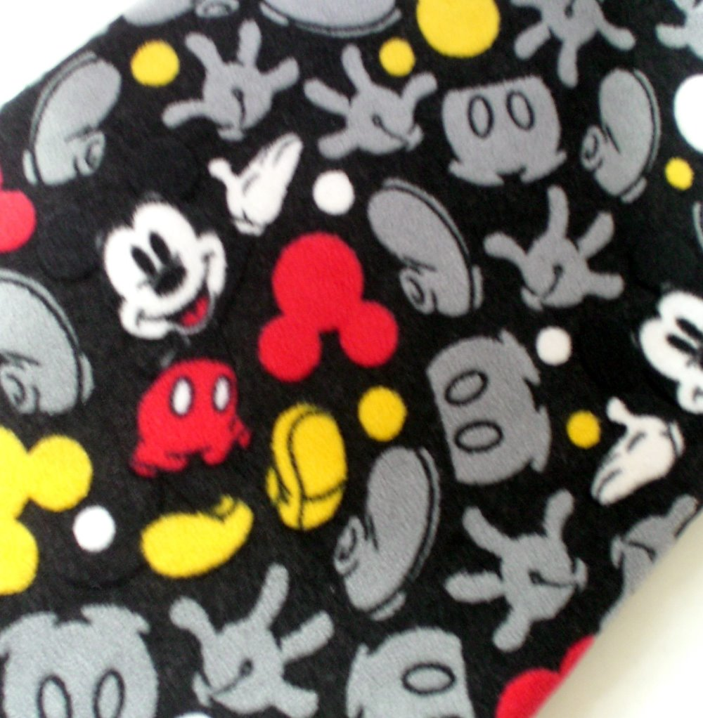 50*153 Cartoon Mickey Fleece Fabric Sewing Supplies DIY Handmade,Kids Pets Bedding Blanket Pajama Cloth Winter Warm Material(China (Mainland))