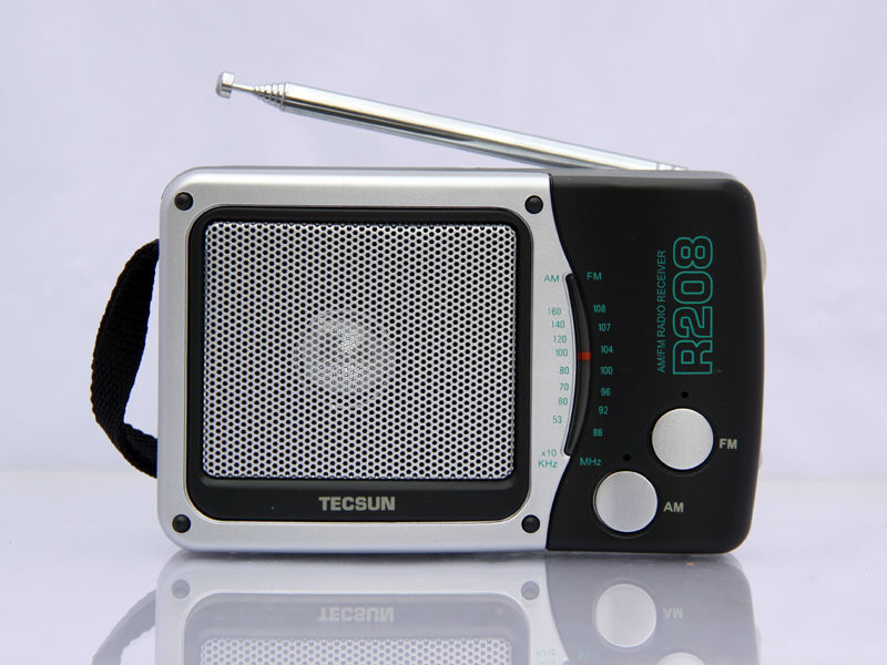 TECSUN R-208 Small-sized Desktop FM / AM Radio Receiver(China (Mainland))
