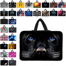 Zipper Neoprene 13″ laptop bags For 12.8″ 13.3″ 13 Toshiba Dell Free Shipping Hidden Handle Sleeve Computer Accessories Dog Face