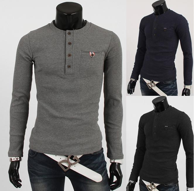 produto 2015 new male models. Harmonia placket splicing men's casual sweaters