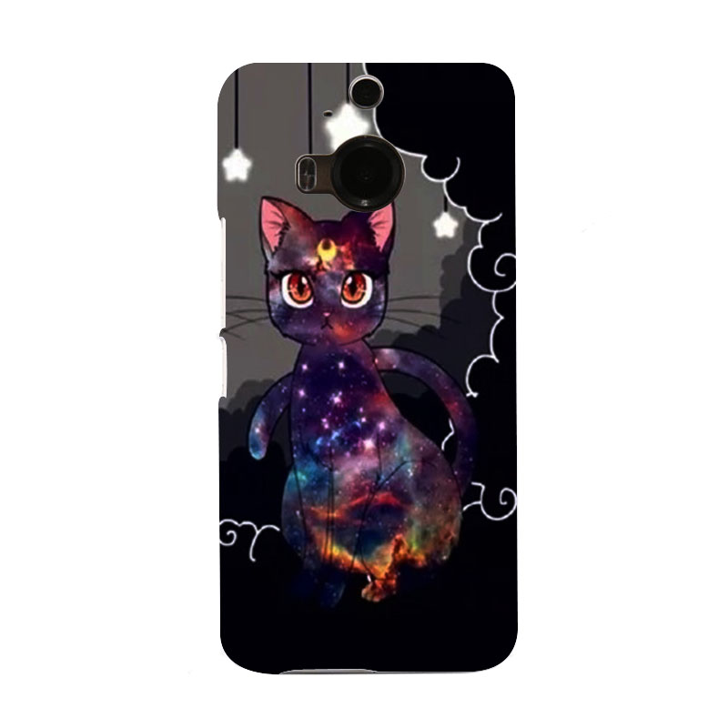 Sailor Moon Artemis Cat Luxury Retro Hard Colorful Telephone Case for HTC M9 and M9 PLUS(China (Mainland))