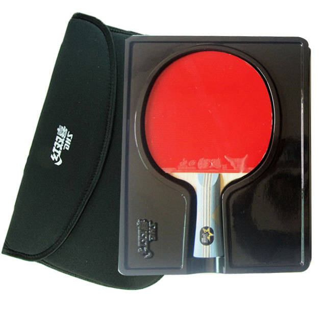 ORIGINAL DHS X6002 6 STARS.SHAKE-HANDS GRIP.DOUBLE HAPPINESS SPORTS,FINISHED PRODUCT TABLE TENNIS RACKET(China (Mainland))