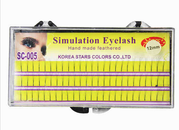 three rows of eyelashes Makeup Eyelash 0 15mm C Curl Natural Long False Fake Individual Eyelashes