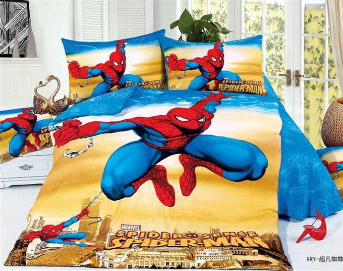 Cartoons Bedroom Sets For Teenagers : 3D-Spiderman-Kids-boys-cartoon-bedding-comforter-set-children-twin ...