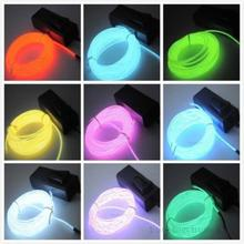 1pcs  3M Flexible EL Wire Neon Light for Dance Party Car Decor+Controller(China (Mainland))