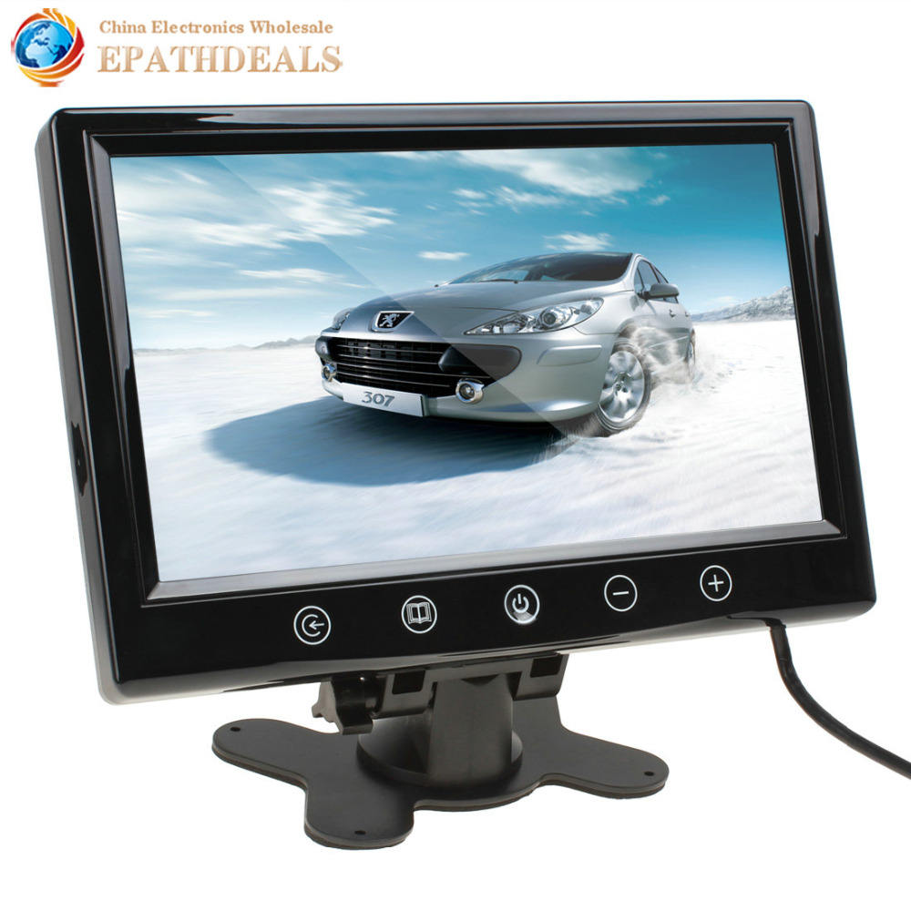 9 Inch Color TFT LCD Remote Control Car Rear View Monitor Car Reverse Rearview Monitor with 2 Video Input(China (Mainland))