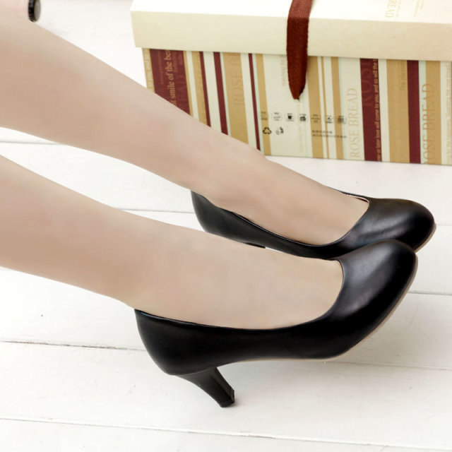 Free shipping 15 Elegant OL White collar jobs In the thick with shoes Fashionable and comfortable