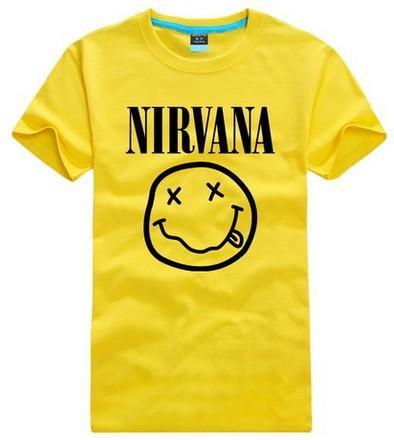 Nirvana P31-Summer Lovers T Shirts Short Sleeve Round Neck Hip Hop Man Rock Band Fashion Male Top Tees clothing plus:XS-4XL(China (Mainland))