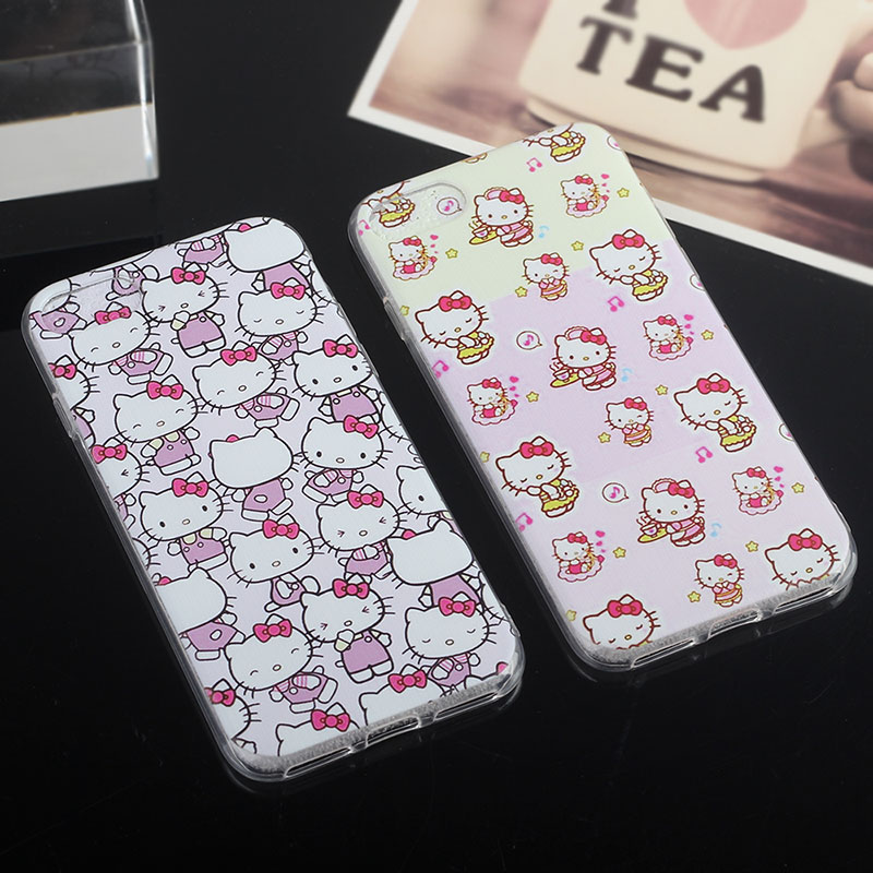 Hello Kitty Capinhas Para For Iphone 6S Case Silicone Soft Phone Bag Cover Case Accessorie For Iphone 6S 6 Plus 5s SE 5 iphon7(China (Mainland))