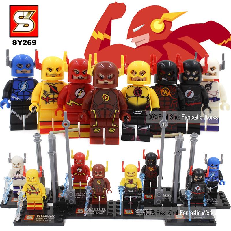 2015 New SY269 The Flash Blocks Mini Figures,Newest The Flash Blocks Action Figure VS Decool Building Block Figure Reverse-Flash(China (Mainland))
