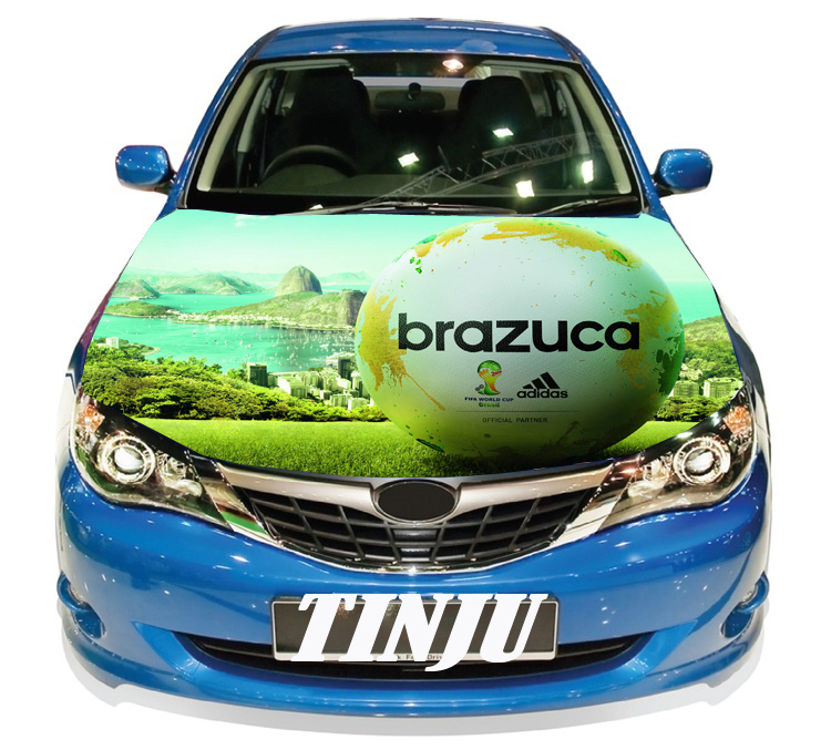 World Cup Soccer Full Color Graphics Adhesive Vinyl Sticker Fit Car Hood