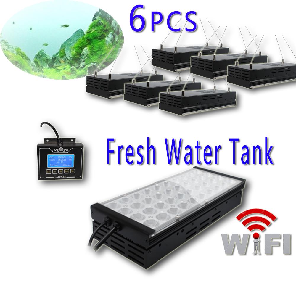 540W LED WIFI Smart Fan180cm freshwater tank Programmable 4 channels dimmable led intelligent light sunrise sunset lunar cycle(China (Mainland))