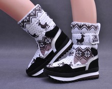 Size 36-41 Brand New Trendy X-mas Deer Women Fashion Snow Booties Durable Anti-slip Warm-keeper Ladies Winter Ankle Boots Heels(China (Mainland))