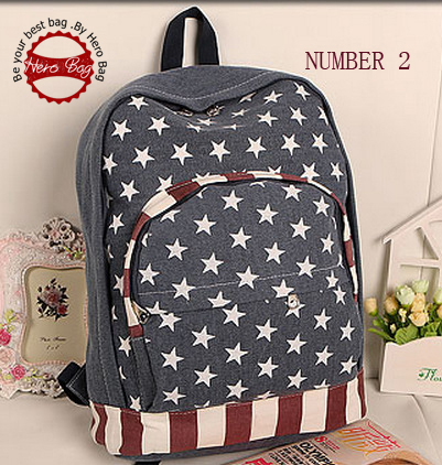 Hot sale USA flag canvas packbag,student bag/school bag,printing backpack S5B025(China (Mainland))