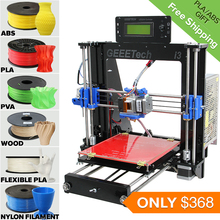 Five Materials Support LCD Reprap Prusa i3 3D Printer Machine 8MM Acrylic Frame High Precision Impressora DIY Kit