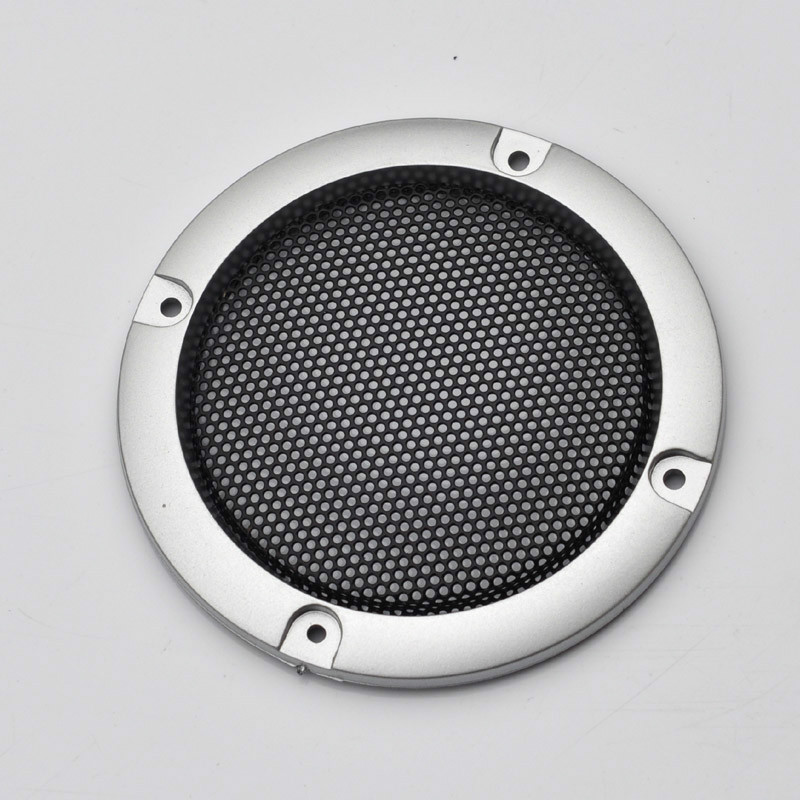 2pcs 3inch DIY Loudspeakers Protective Cover Nets Speaker Decorative Circle Sound Box Protective Grille(China (Mainland))