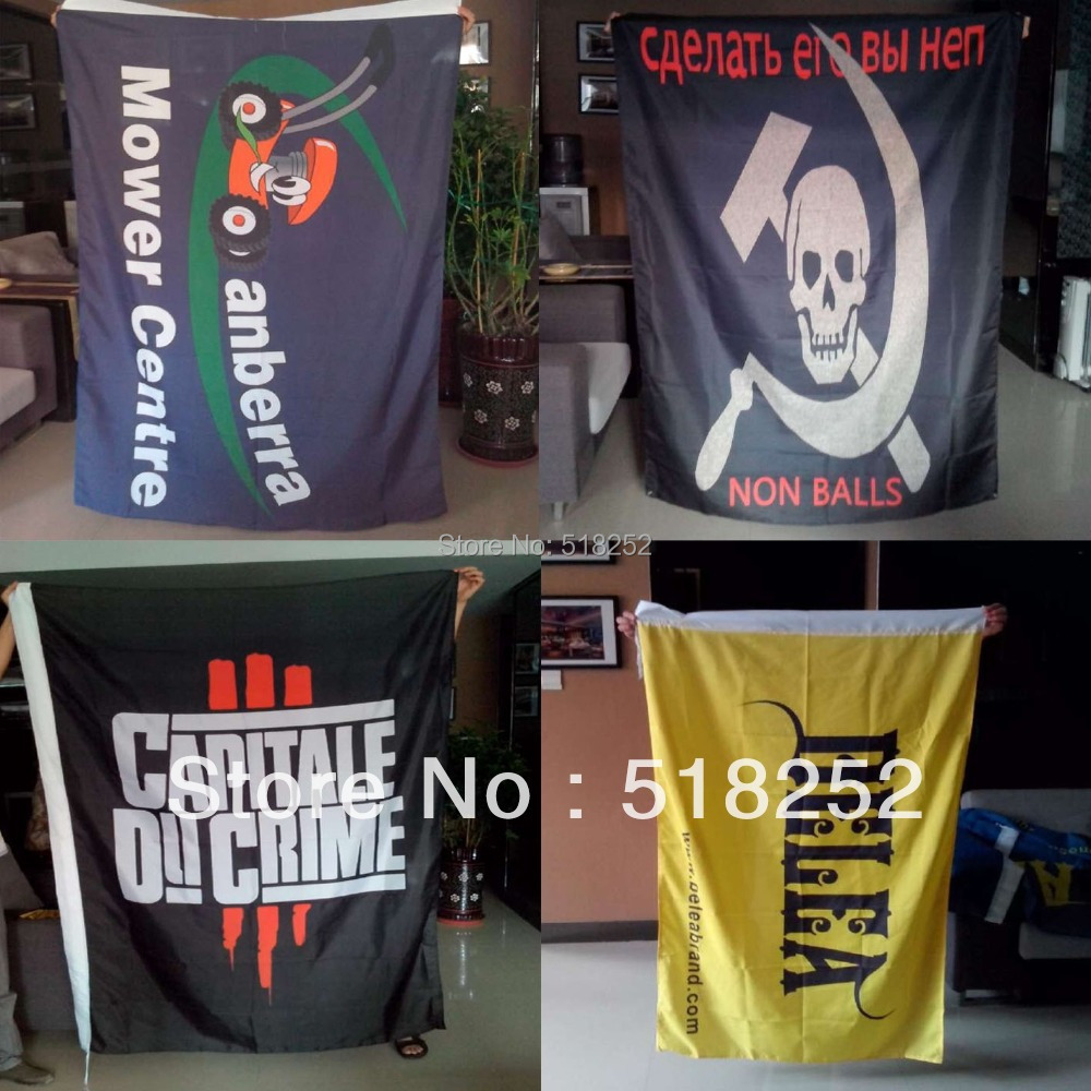 custom flag customize advertisement custom banner flag 3x5ft 100% WARP KNIT fabric, free shipping(China (Mainland))