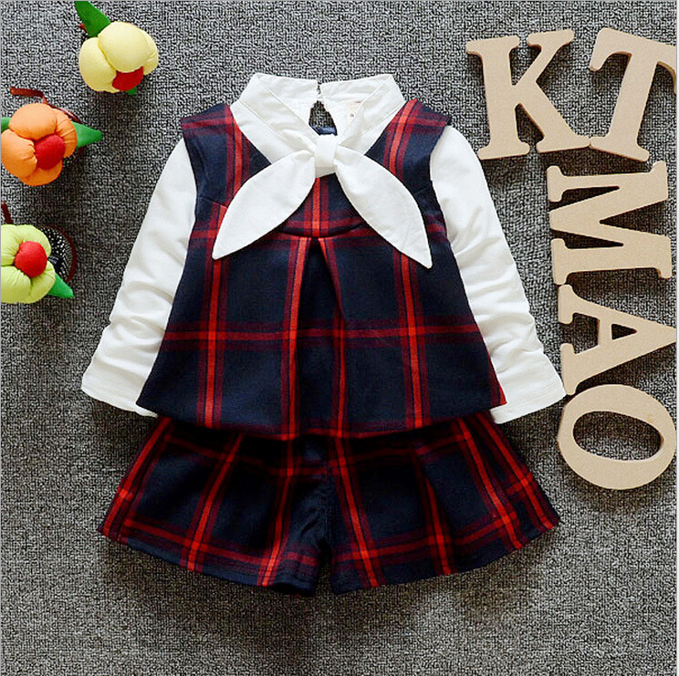 New Spring Autumn Kids Clothes 3pcs font b Clothing b font Sets font b Girls b