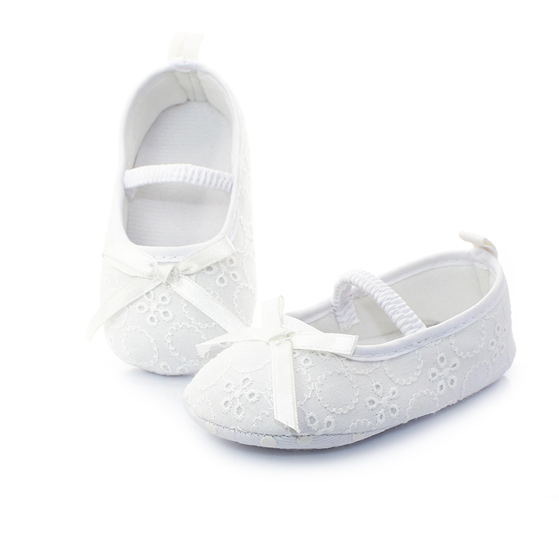 Pure White Newborn Baby Shoes Serious Solemn Christening