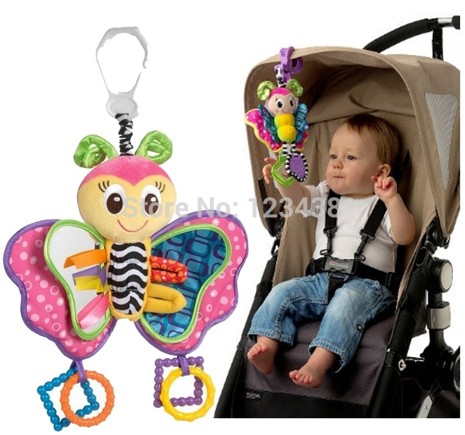 Blossom Butterfly Hanger Baby Rattles & Mobiles Toy for Bed Crib Cradle Cot Pram Stroller Pushchair with Soft Mirror(China (Mainland))