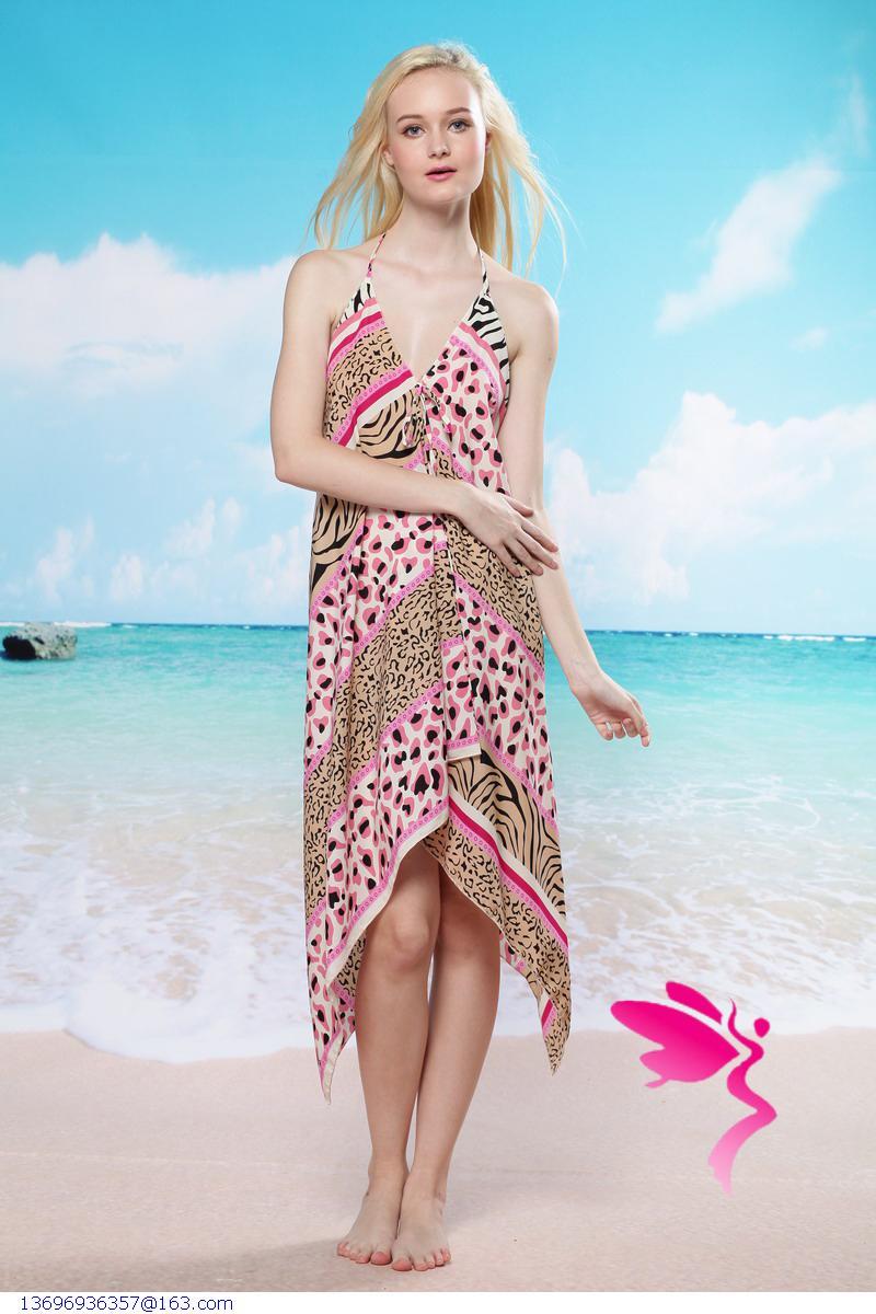 women summer Beach Dress Beach Cover Up Bikini Wrap Halter Print beachwear Sarong moda praia pareo banho(China (Mainland))