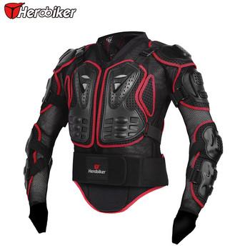 Herobiker Профессиональный Мотоцикл Защита Мотокросс Гонки Полный Доспех Позвоночника Грудь Защитная Куртка Передач Назад Поддержка