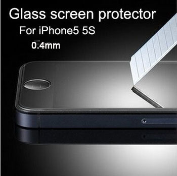 Explosion Proof 0.4mm LCD Clear Front Premium Tempered Glass Screen Protector Protective Film Guard Apple iPhone 5 5S 5C - BOAS store