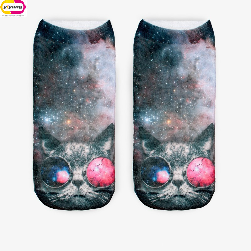 3D Print Animal mens and women Socks Casual Cute Animal modelling Socks Unisex Low Cut Ankle Socks Multiple Colors StyleОдежда и ак�е��уары<br><br><br>Aliexpress