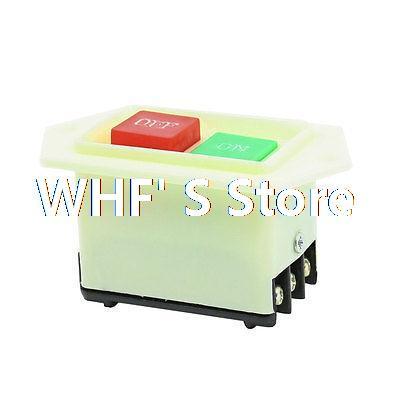 AC 220/380V 5A ON/OFF Start Stop Self-Locking Push Button Switch(China (Mainland))