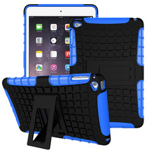 For Apple iPad Mini 4 Tablet Case Silicone &PC Shockproof Heavy Duty Combo Hybrid Rugged Dual Layer Grip Cover Case w/ Kickstand(China (Mainland))