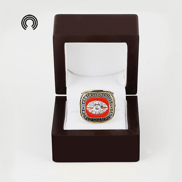 low price for Wooden Boxes With 1969 Kansas City Chiefs Replica Super Championship Ring free shipping(China (Mainland))