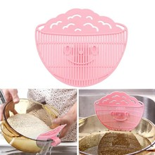 Leaf Shape Rice Wash Sieve Beans Peas strainer Cleaning colander Gadget Rice Washing Device kitchen accessories cooking tools