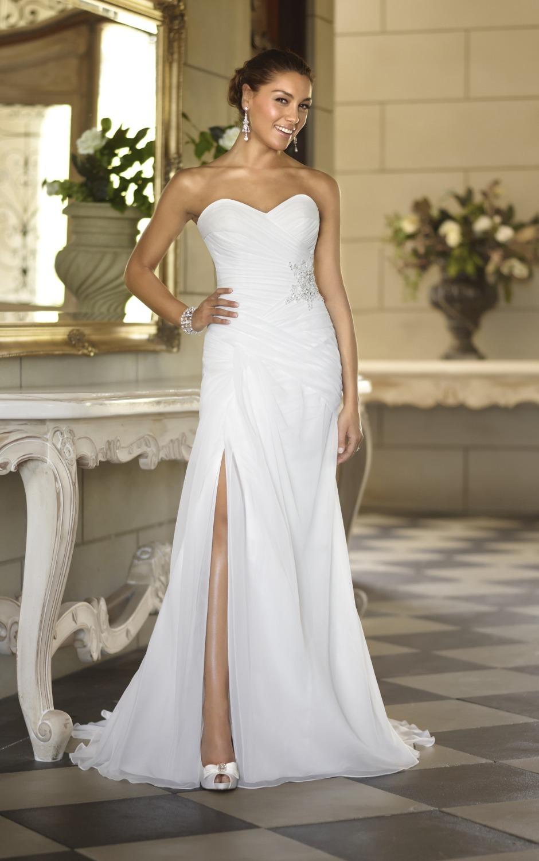 wedding dress slit