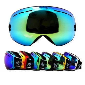 Fp # подлинная лыжные очки с двойными анти-туман большие сферические профессиональные лыжные очки унисекс-многоцветной сноуборд очки