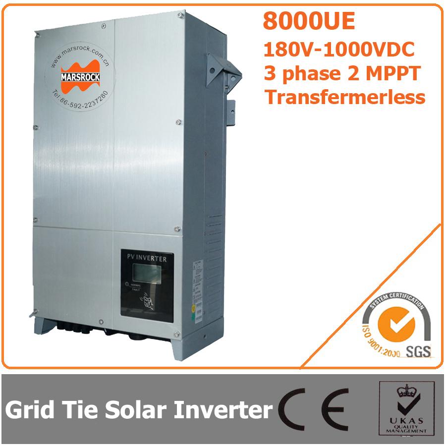 8000W 180V-1000VDC Three Phase Transformerless Solar Grid Tie Inverter with 2 MPPT(China (Mainland))