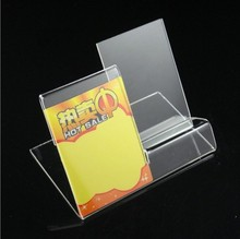 10Pieces Acrylic Mobile Cell Phone Display Stand Holder With PriceTag Label Free Shipping(China (Mainland))
