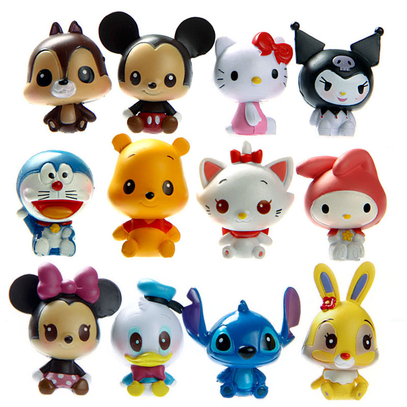 12pcs Pop Disny Toy Mickey Minnie Mouse Funko Pop PVC Action Figures Hello Kitty Anime Figure Figurines Kids Toys For Boys Girls(China (Mainland))