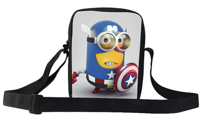 2015 Popular Movie Cartoon Character Despicable Me Minion Shoulder Bag For Girls Boy Kids Messenger Bags For School Children(China (Mainland))