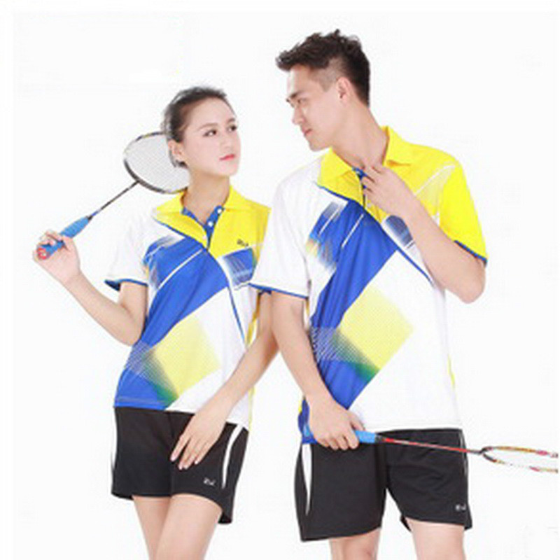 Table Tennis Clothes 2016 New Badminton Clothing Suit Couple Quick Drying Summer Tennis Clothes Tennis Sports Shirt(China (Mainland))