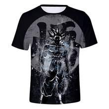 Новинка 2019, Мужская футболка с драконом и мячом Z, футболка для бодибилдинга Goku Vegeta, супер футболка Saiyan, летняя одежда, Homme, Dragon Ball t(China)