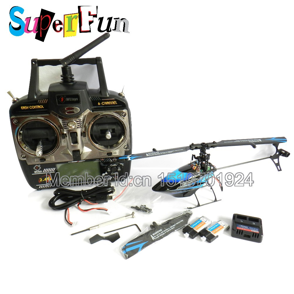 Wholesale WL toys V922 6CH 2.4G RC Mini helicopter Flybarless Heli RTF with with Gyro Liquid crysta(Blue)l. Free Shipping.(China (Mainland))