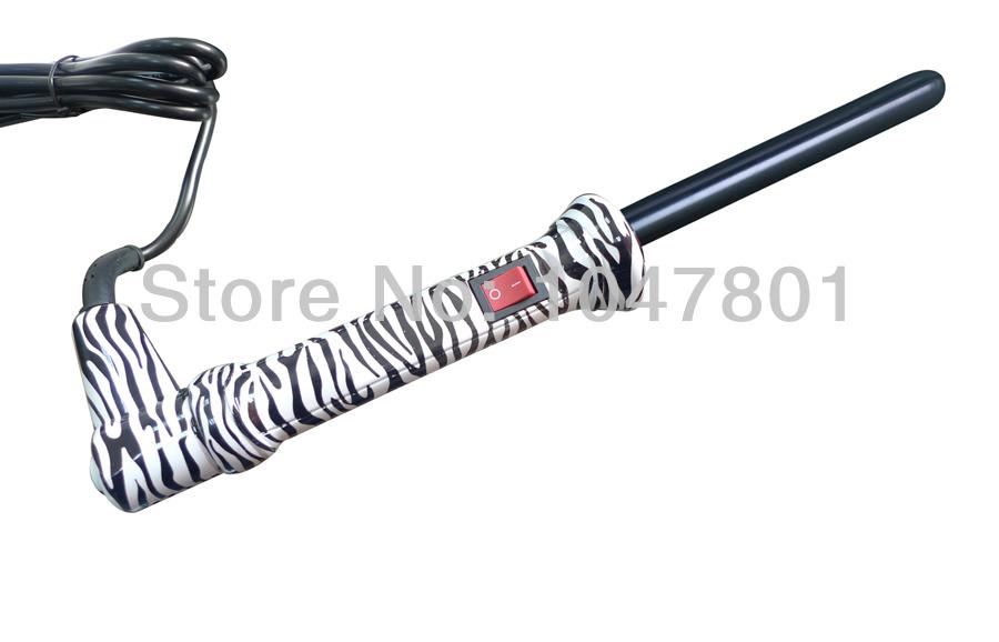 Hair roller zebra curling wand tourmaline ceramic curler for Zebra curling wand