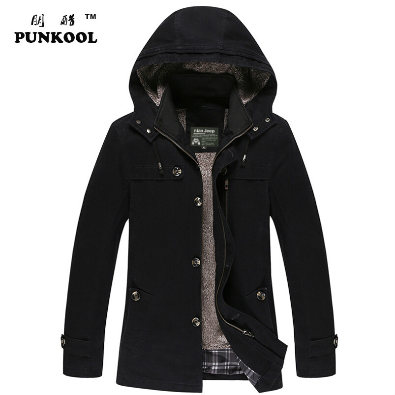 New Hot Mens Jackets And Coats Mens Medium-long Casual Hooded Jackets Outerwear  Winter Jacket Men Overcoat Plus Size 5xl 180Одежда и ак�е��уары<br><br><br>Aliexpress